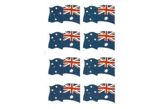 10-16x New Australia Day Map Party Temporaty Tattoos Flag Sticker ANZAC Souvenir - Flag (16PCS)