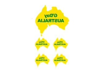 10-16x New Australia Day Map Party Temporaty Tattoos Flag Sticker ANZAC Souvenir - Map (10PCS)