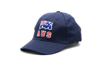 Adult Mens Womens Australia Day Australian Flag Souvenir Cotton Baseball Cap Hat - Flag_Navy