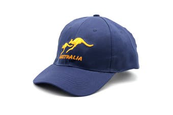 Adult Mens Womens Australia Day Australian Flag Souvenir Cotton Baseball Cap Hat - Kangaroo_Navy
