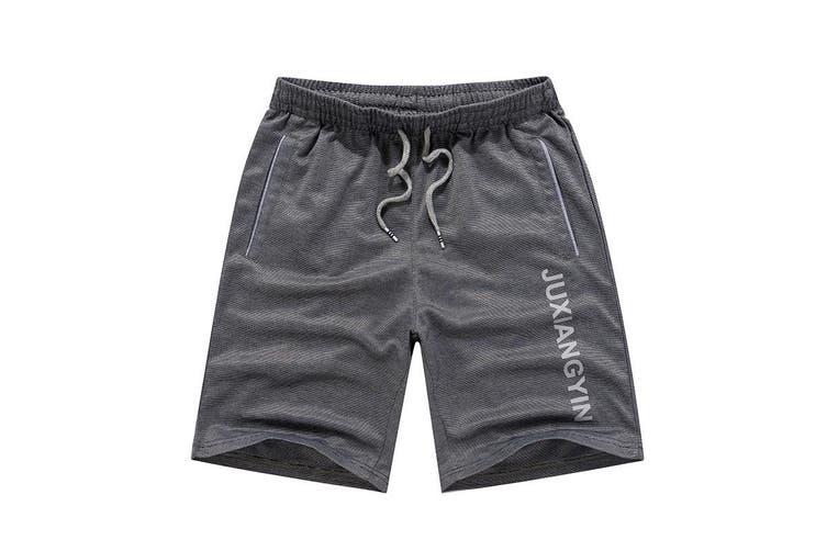Men's Gym Casual Sports Jogging Basketball Swim Shorts Pants Drawstring Pockets - Dark Grey (Size:2XL)