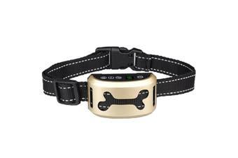 Auto Anti Bark Dog Collar Rechargeable Stop Barking Pet Humane 7-Mode Waterproof - Gold