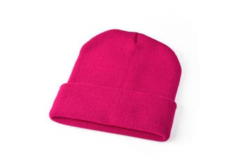 New Women Mens Unisex Oversized Slouch Baggy Hat Cap Knit Beanie Ski Winter Warm - Hot Pink