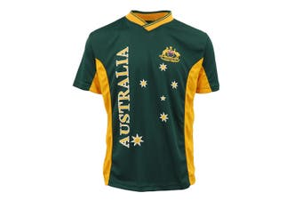 Adults Kids Men's Sports Soccer Rugby Jersy T Shirt Australia Day Polo Souvenir - Green - Green