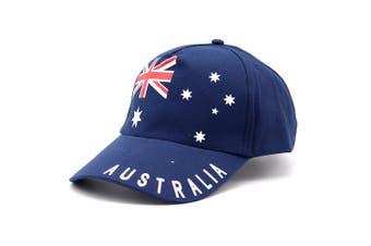 Adult Mens Womens Australia Day Australian Flag Souvenir Cotton Baseball Cap Hat - Australian Flag (100% Cotton)