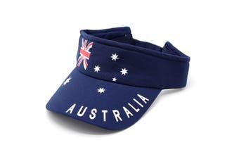 Adult Mens Womens Australia Day Australian Flag Souvenir Cotton Baseball Cap Hat - Flag Sunvisor (100% Cotton)