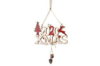 2020 Christmas Wooden Door Sign Reindeer Plaque Wall Home Tree Ornament Décor - Xmas