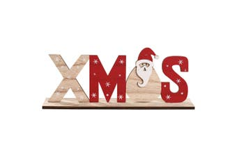 Christmas Wooden Table Stand Sign Plaque Ornament Santa Snowman Party Xmas Décor - Santa
