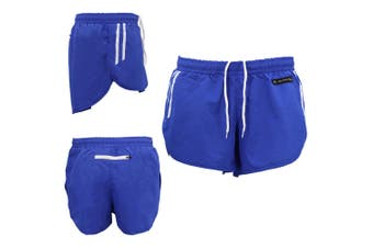 Men's Gym Shorts Training Running Jogging Casual Sport Cool Dry Swim Beach Pants - Blue - Blue