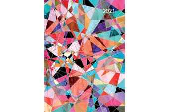 Abstract 2021 Premium Diary Planner A5 Padded Cover Christmas New Year Gift
