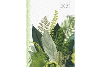 Botanicals 2021 Premium Diary Planner A5 Padded Cover Christmas New Year Gift