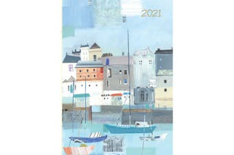 By the Sea 2021 Premium Diary Planner A5 Padded Cover Christmas New Year Gift