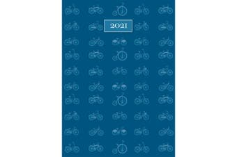 Cycling 2021 Premium Diary Planner A5 Padded Cover Christmas New Year Gift