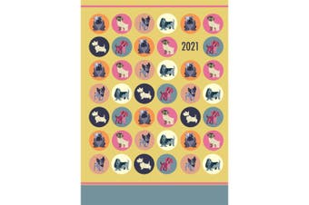 Dot the Dog 2021 Premium Diary Planner A5 Padded Cover Christmas New Year Gift