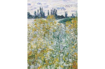 Monet 2021 Premium Diary Planner A5 Padded Cover Christmas New Year Gift