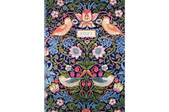 William Morris - The Strawberry Thief 2021 Premium Diary Planner A5 Padded Cover