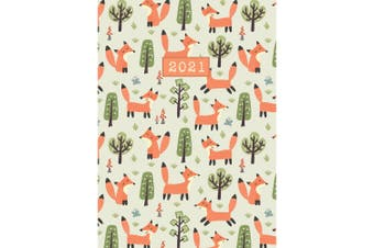 Woodland 2021 Premium Diary Planner A5 Padded Cover Christmas New Year Gift