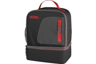 Thermos Radiance Dual Lunch Case - Black/Red