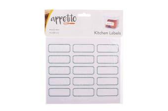 Blank Kitchen Labels