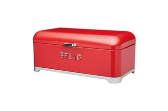 Kc Lovello Bread Bin 42x22x19cm Red