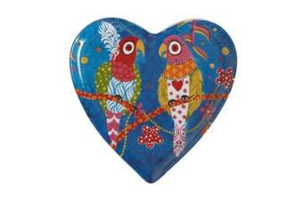 Maxwell & Williams Love Hearts Heart Plate 15.5cm Rainbow Girls Gift Boxed