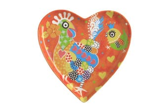 Maxwell & Williams Love Hearts Heart Plate 15.5cm Chicken Dance Gift Boxed