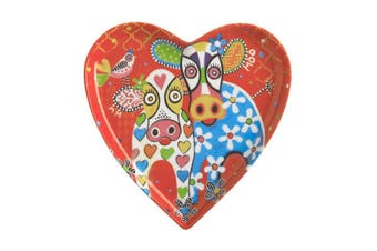 Maxwell & Williams Love Hearts Heart Plate 15.5cm Happy Moo Day Gift Boxed