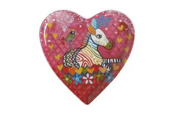 Maxwell & Williams Love Hearts Heart Plate 15.5cm Zig Zag Zeb Gift Boxed