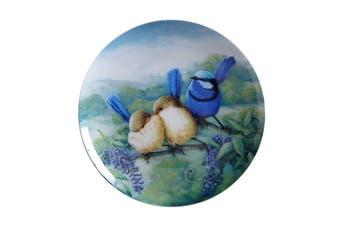 Maxwell & Williams Birds Of Australia Kc 10yr Anniversary Plate 20cm Splendid Fairy Wren Gift Boxed