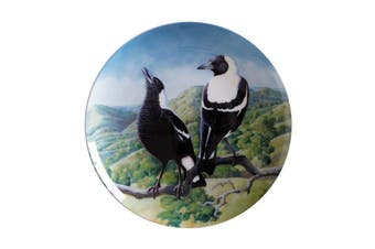 Maxwell & Williams Birds Of Australia Kc 10yr Anniversary Plate 20cm Magpie Gift Boxed