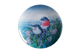 Maxwell & Williams Birds Of Australia Kc 10yr Anniversary Plate 20cm Rose Robin Gift Boxed