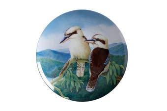 Maxwell & Williams Birds Of Australia Kc 10yr Anniversary Plate 20cm Kookaburra Gift Boxed