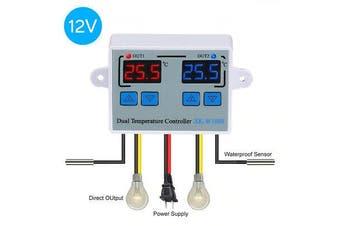 XK-W1088 Dual Digital Thermostat Temperature Controller 2Relay DC12V /AC110-220V[AC110-220V]