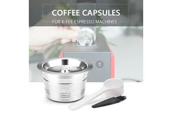 Stainless Steel Coffee Capsules Refillable Pod For K-Fee Espresso Caffitaly New