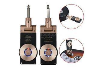 2.4G Guitar Bass Wireless System Guitar Transmitter Receiver Set 1100mAh 50M