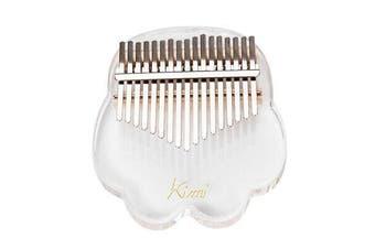 17-Key Kalimba Thumb Piano Transparent Acrylic Material Cat Claw Shape M2B9