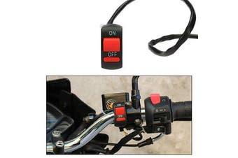 "22-25mm Universal Motorcycle ATV Bike 7/8"" Handlebar Light Switch ON OFF Button"