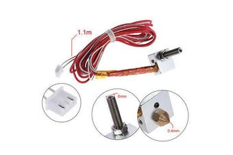 12V 0.4mm M6 Nozzle Extruder Hot End HotEnd for Anet A2 & A8 3D Printer Parts