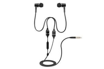 Air Tube Stereo Music Headset 3.5mm Anti-radiation Earphone In-ear Headphone Mic
