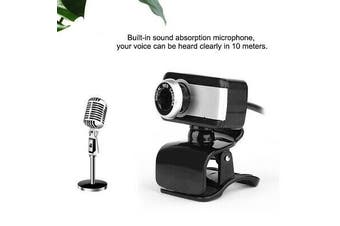 USB Mega Pixel 2.0 HD Camera Webcam Clip Web Cam With Microphone For PC MSF