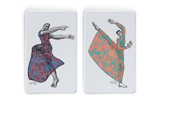 Dancer Platter Rectangle Set 2