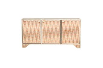 Bone Inlay Buffet in Chevron/Orange