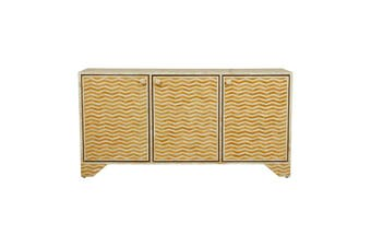 Bone Inlay Buffet in Chevron/Yellow
