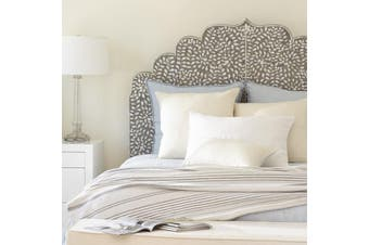 Bone Inlay Moghul Bedhead in Queen/Grey