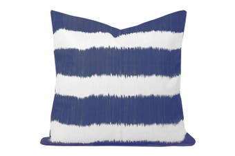 Bayou Stripe Cushion in Blue - With Feather Infill