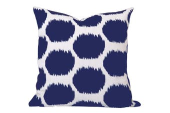 Arzu Ikat Cushion in Blue - With Feather Infill