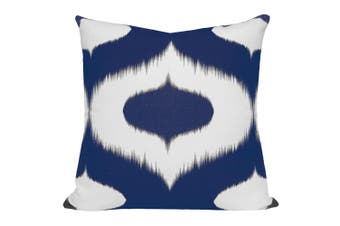 Neveen Ikat Cushion in Blue - With Feather Infill