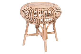 Rattan Round Side Table - Natural