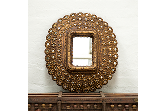 Peacock Mirror - Medium