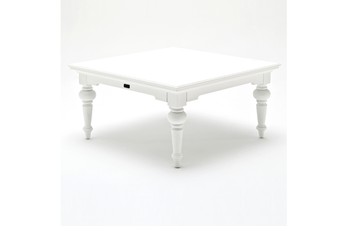Provence Square Coffee Table in White